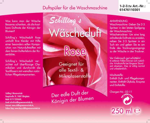 Schillngs Wäscheduft Rose, 250 ml